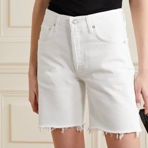 NWT Agolde Rumi frayed denim shorts